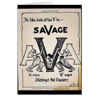 The Idea Back Of The 'V' In Savage Card