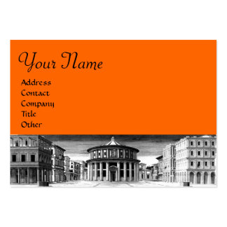 THE IDEAL CITY black white orange Business Cards