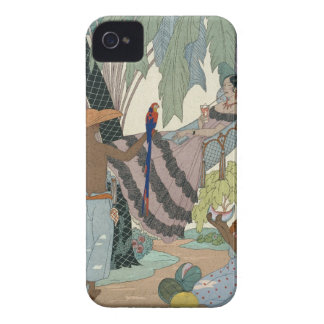 The idle beauty (pochoir print) iPhone 4 Case-Mate cases