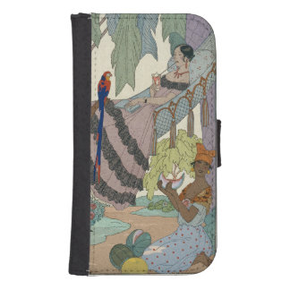 The idle beauty (pochoir print) samsung s4 wallet case