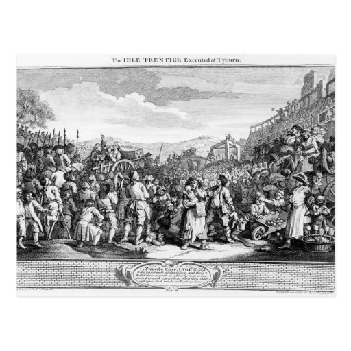 The Idle 'Prentice Executed at Tyburn Post Card