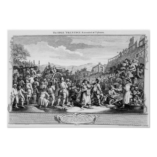 The Idle 'Prentice Executed at Tyburn Poster