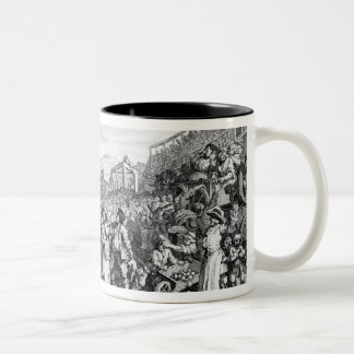 The Idle 'Prentice Executed at Tyburn Two-Tone Coffee Mug