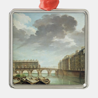 The Ile Saint-Louis and the Pont Marie in 1757 Christmas Ornament