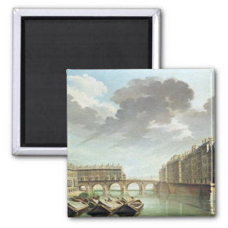 The Ile Saint-Louis and the Pont Marie in 1757 Magnet