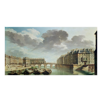 The Ile Saint-Louis and the Pont Marie in 1757 Poster