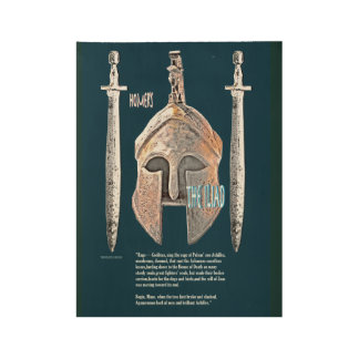 The Iliad image/text Wood Poster