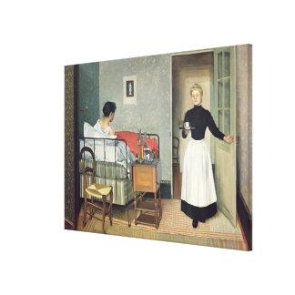 The Ill Child  1892 Canvas Print