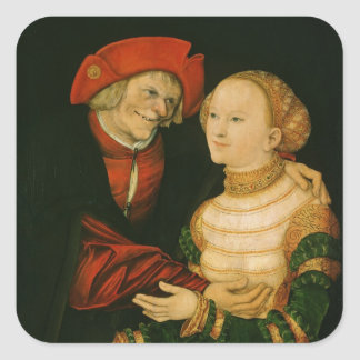 The Ill-Matched Couple Square Sticker