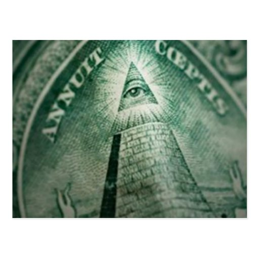 The Illuminati Eye Post Cards