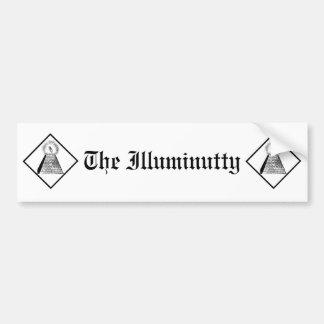 The Illuminutty Car Bumper Sticker