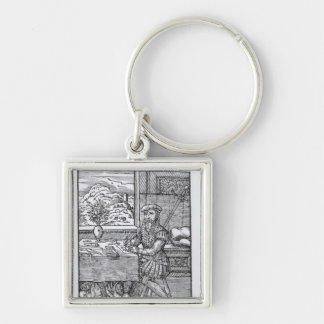 The Illustrator, published by Hartman Schopper Silver-Colored Square Key Ring