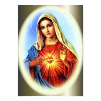 The Imacculate Heart of Blessed Virgin Mary 5x7 Paper Invitation Card