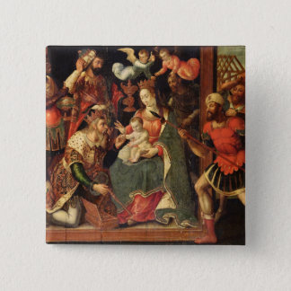 The Image of the Adoration of the Magi 15 Cm Square Badge