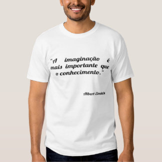 The imagination is more important that the knowled shirt
