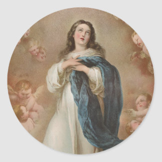 The Immaculate Conception by American Lithographic Classic Round Sticker