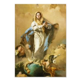 The Immaculate Conception by Giovanni B. Tiepolo 9 Cm X 13 Cm Invitation Card