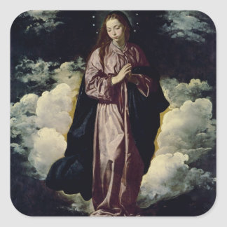 The Immaculate Conception, c.1618 Square Sticker
