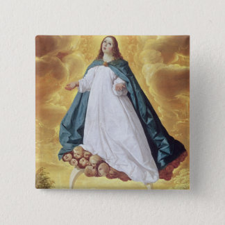 The Immaculate Conception, c.1628-30 (oil on canva 15 Cm Square Badge