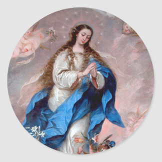 The Immaculate Conception Round Sticker