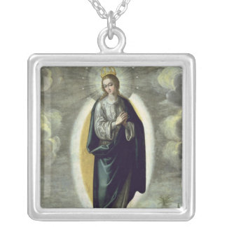 The Immaculate Conception Silver Plated Necklace