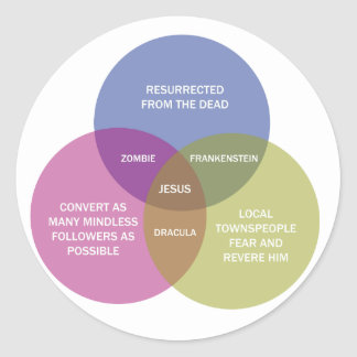 The Immaculate Venn Diagram Round Sticker