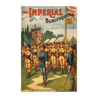 The Imperial Burlesquers Female Soldiers Play Canvas Print