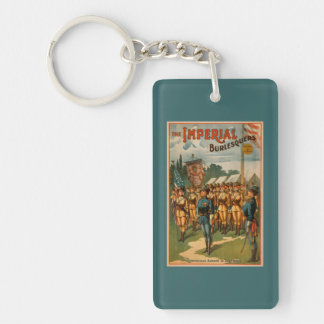 The Imperial Burlesquers Female Soldiers Play Double-Sided Rectangular Acrylic Key Ring