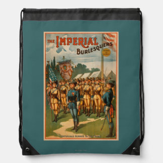 The Imperial Burlesquers Female Soldiers Play Drawstring Bag