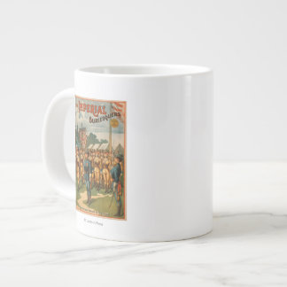 The Imperial Burlesquers Female Soldiers Play Large Coffee Mug