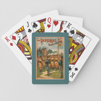 The Imperial Burlesquers Female Soldiers Play Playing Cards