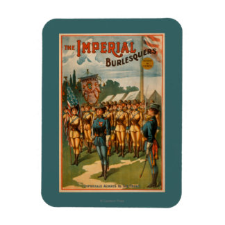 The Imperial Burlesquers Female Soldiers Play Rectangular Photo Magnet