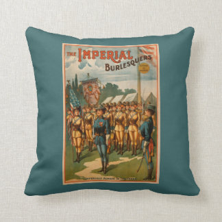 The Imperial Burlesquers Female Soldiers Play Throw Pillow