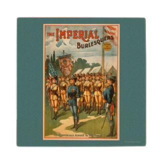 The Imperial Burlesquers Female Soldiers Play Wood Coaster