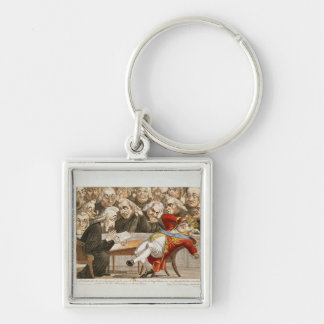 The Imperial Decree to George III Silver-Colored Square Key Ring