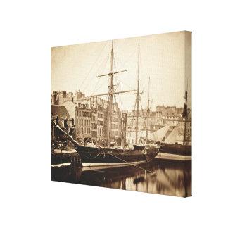 The Imperial Yacht 'La Reine Hortense' at Le Havre Canvas Print