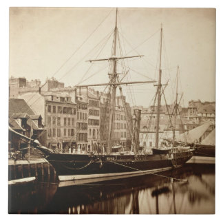 The Imperial Yacht 'La Reine Hortense' at Le Havre Tile