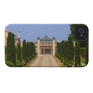 The imposing entrance to Chateau Haut Sarpe the Blackberry Case