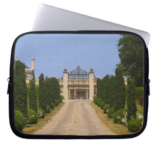 The imposing entrance to Chateau Haut Sarpe, the Laptop Sleeve