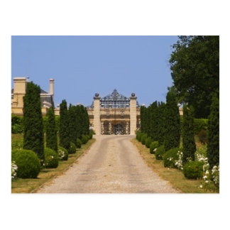 The imposing entrance to Chateau Haut Sarpe, the Postcard