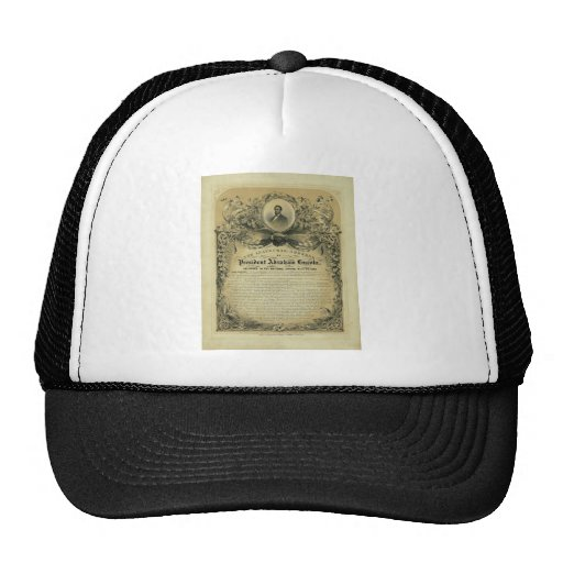 The Inaugural Address of President Abraham Lincoln Mesh Hats