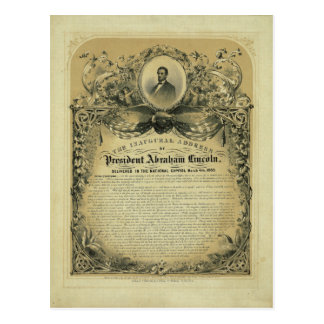 The Inaugural Address of President Abraham Lincoln Postcard