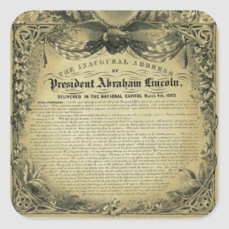 The Inaugural Address of President Abraham Lincoln Stickers