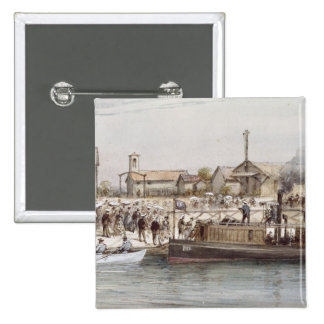 The Inauguration of the Suez Canal 15 Cm Square Badge