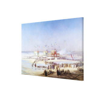 The Inauguration of the Suez Canal Canvas Print