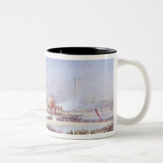 The Inauguration of the Suez Canal Two-Tone Mug
