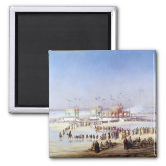 The Inauguration of the Suez Canal Square Magnet