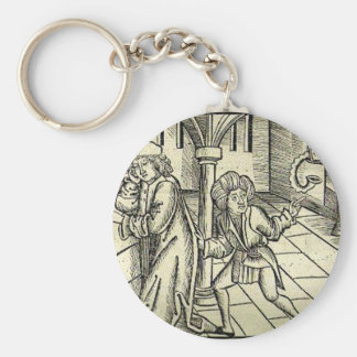 The inconvenient petitioners by Martin Schongauer Basic Round Button Key Ring