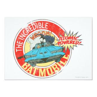 The Incredible Batmobile Icon 13 Cm X 18 Cm Invitation Card
