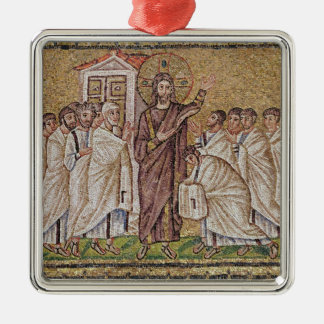 The Incredulity of St. Thomas Silver-Colored Square Decoration